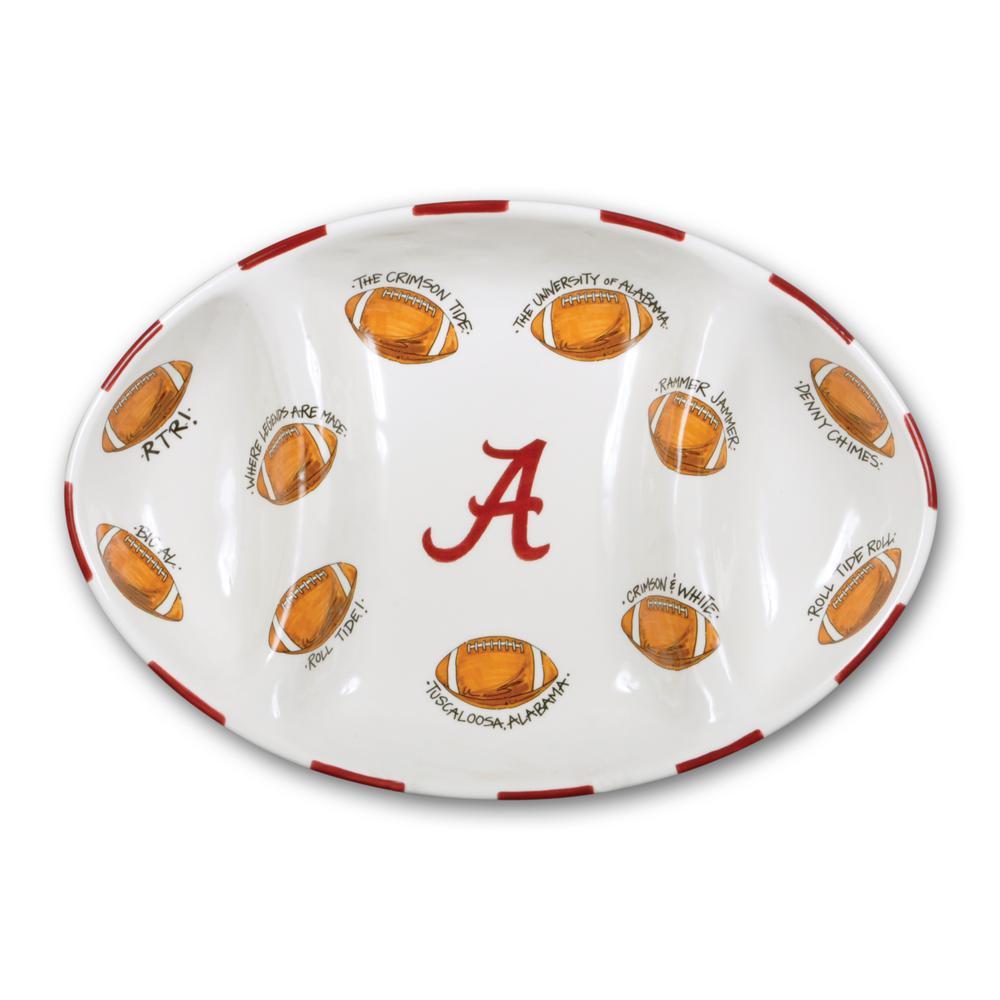 Magnolia Lane Alabama Ceramic Football Tailgating Platter 20242 The Home Depot
