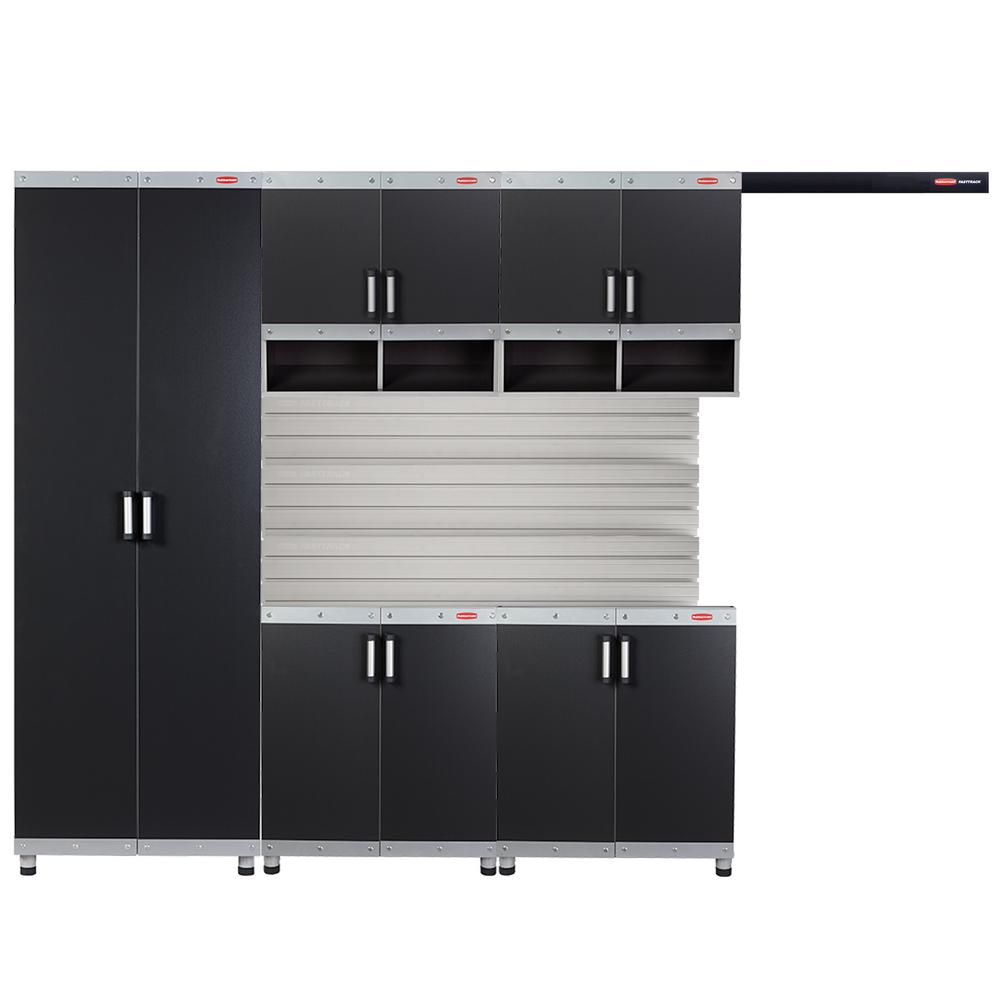 Rubbermaid fasttrack garage laminate piece cabinet set