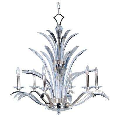 Paradise 6-Light Plated Silver Chandelier