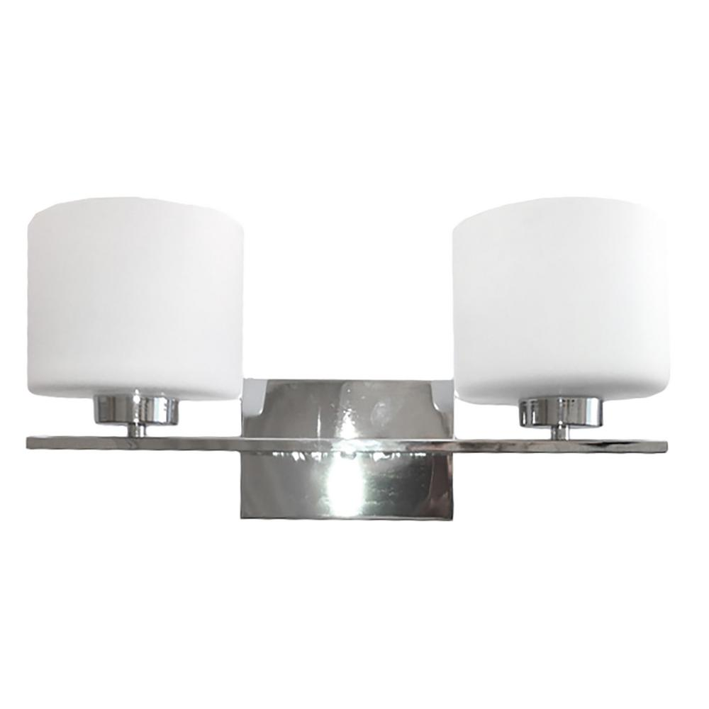 2-Light Chrome Bath Light