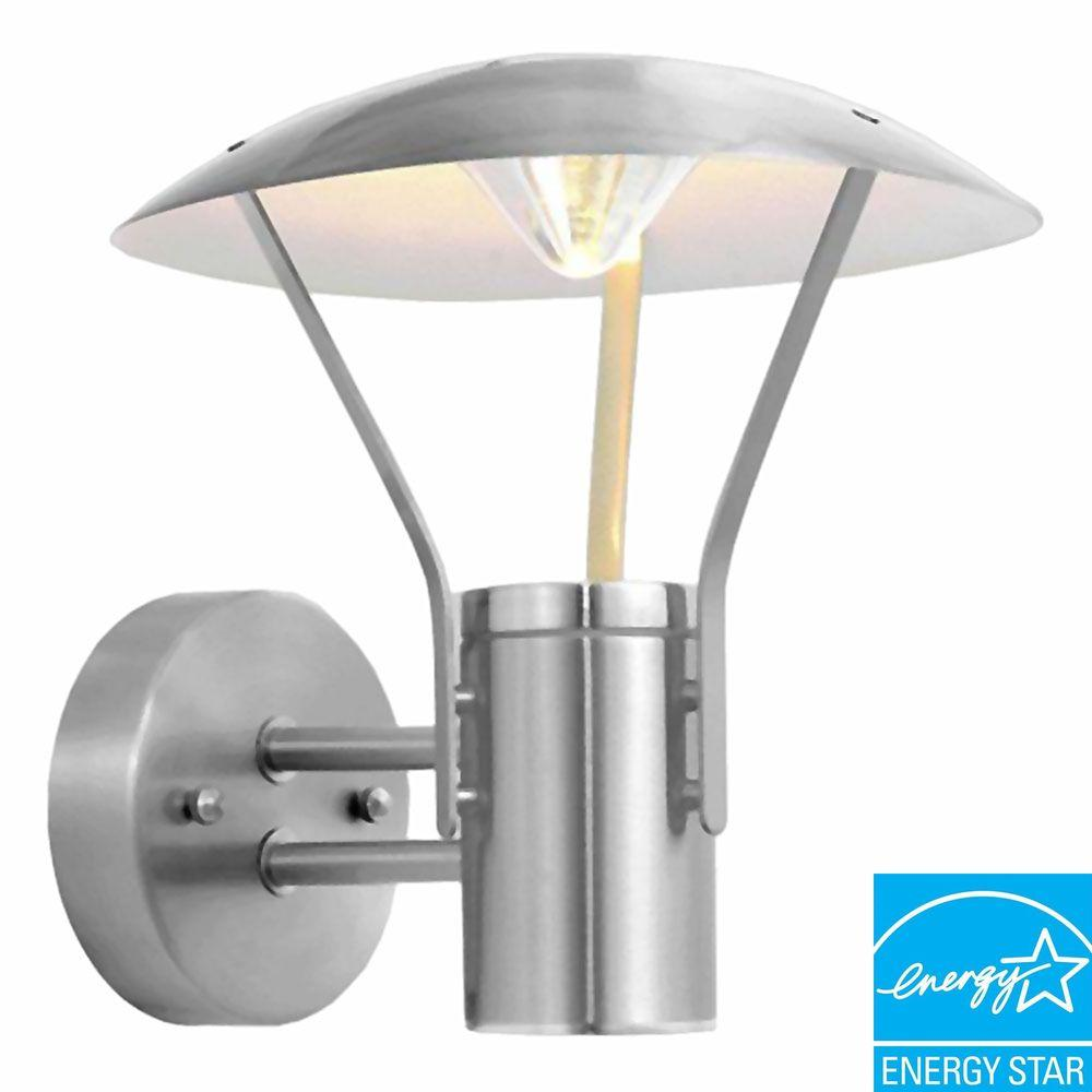 Eglo Roofus Stainless Steel Outdoor Wall Lantern Sconce