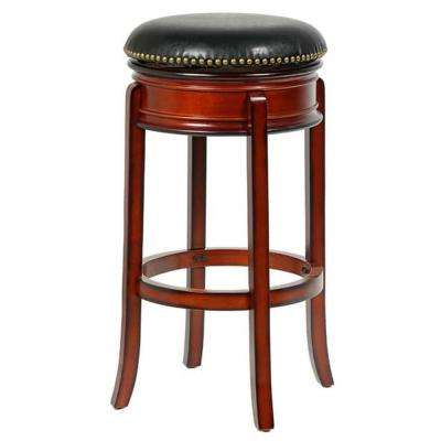 Bristol 24 in. Cherry Swivel Bar Stool