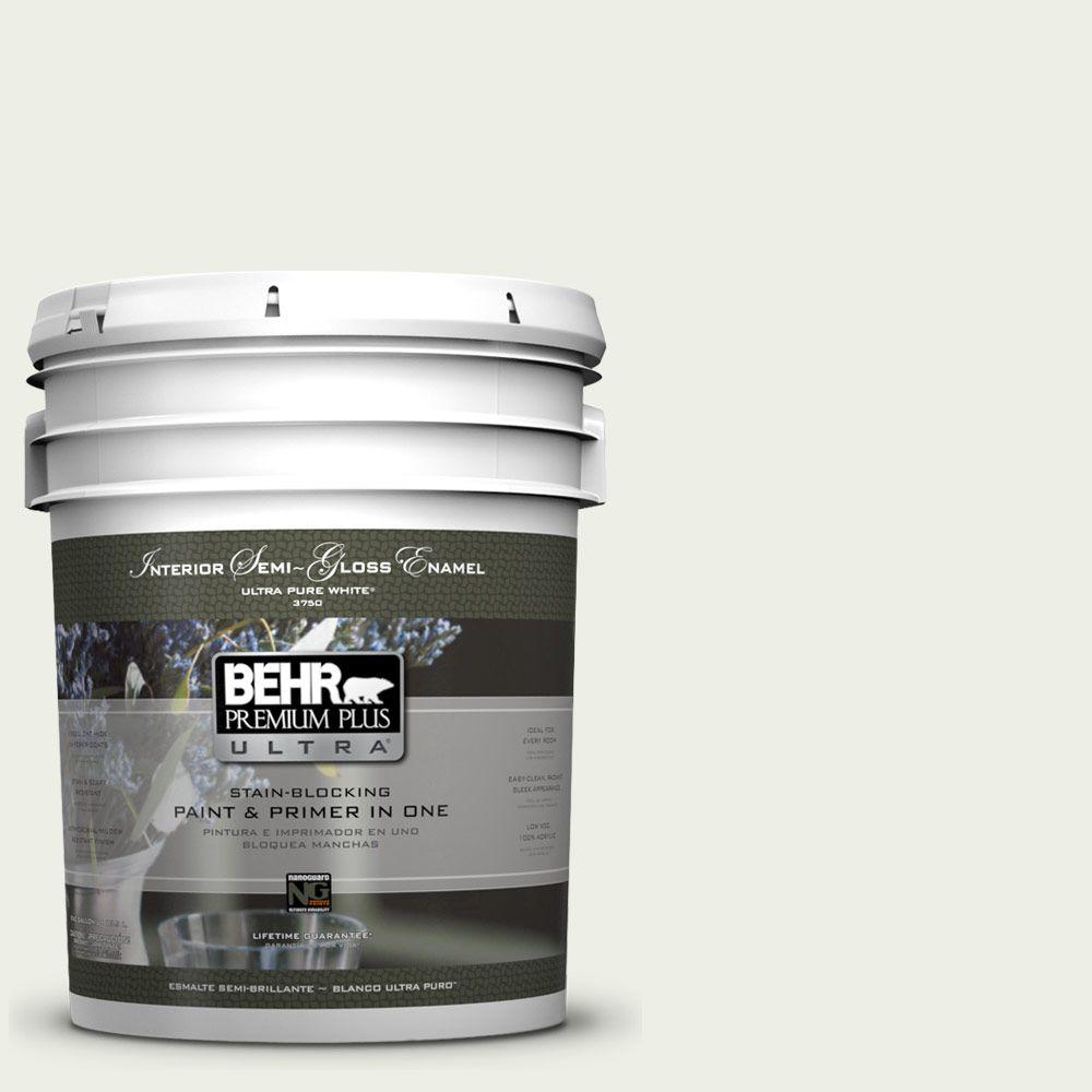 5 gal. #410E-1 Frostwork Semi-Gloss Enamel Interior Paint and Primer in
