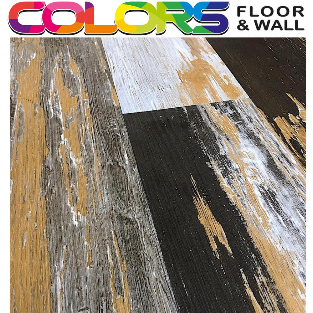 Deco Products Colors Floor and Wall DIY Old Bronze Desert Wood Aged 6 in. x 36 in. Painted Style Luxury Vinyl Plank (30 sq. ft. /case)