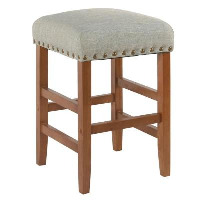 Open Backless 24 in. Textured Navy Bar Stool