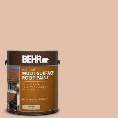 1 gal. #RP-21 Sandcastle Flat Multi-Surface Exterior Roof Paint