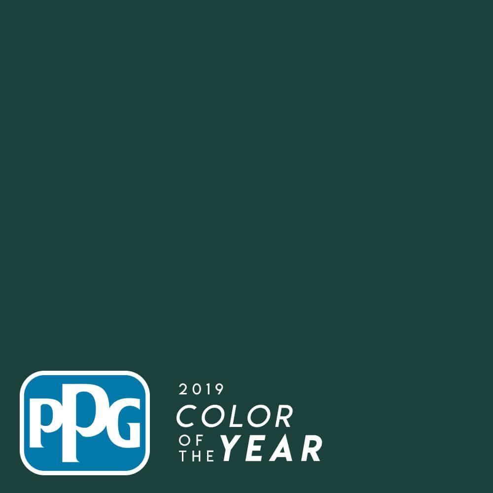 PPG 1 gal. PPG1145-7 Ultra-Hide Zero Night Watch Semi-Gloss Interior Paint