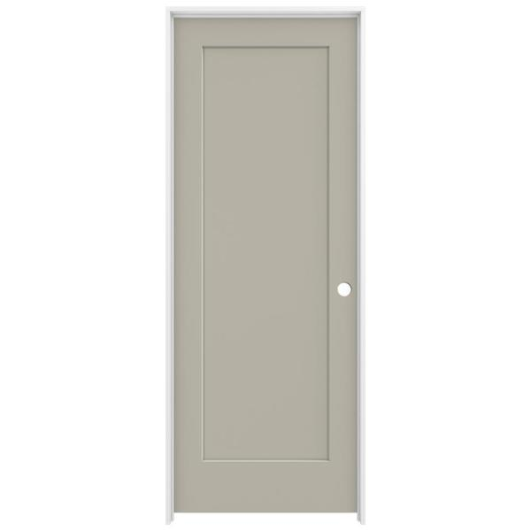 32 in. x 80 in. Madison Desert Sand Left-Hand Smooth Solid Core Molded Composite MDF Single Prehung Interior Door