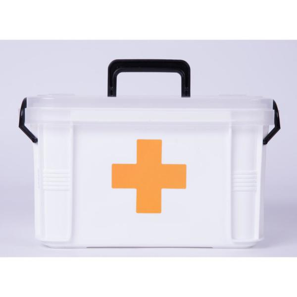 1 Pack Blue Ponpong Ponpong Small First Aid Storage Box Empty Latch Storage Bin Container