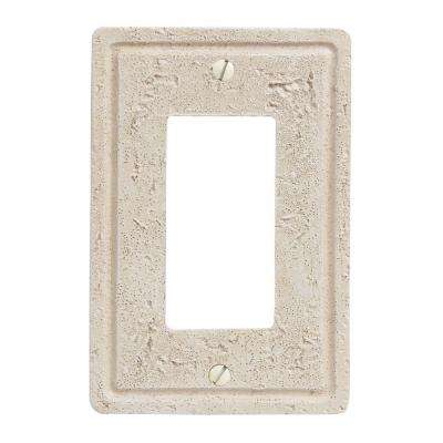 Faux Stone 1 Decora Toggle Wall Plate - Toasted Almond