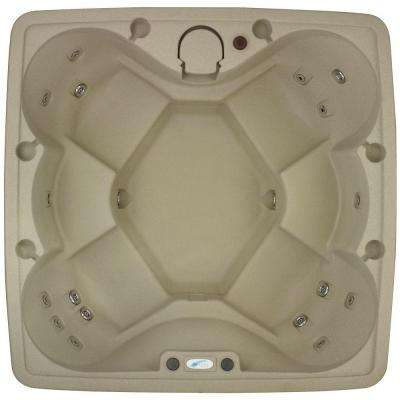 AR-600P 6-Person Spa with Ozone, Heater and 19 Jets in Stainless Steel, and LED Waterfall in Cobblestone (120/240-Volt)
