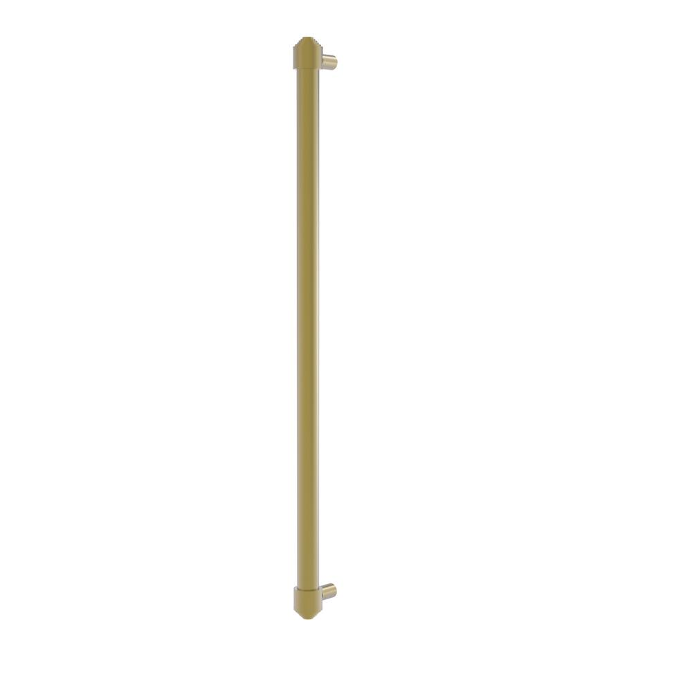 Allied Brass 18 in. Center-to-Center Refrigerator Pull in Satin Brass Transform your kitchen with this elegant Refrigerator and Appliance Pull. This pull is designed for replacing the pulls or handles on your built-in refrigerator, freezer or any other built in appliance. Appliance pull is made of solid brass and provided with a lifetime finish to insure products will provide a lifetime of service.