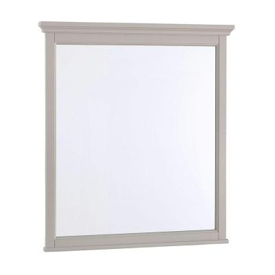 Ashburn 28 in. W x 31 in. L Wall Mirror in Grey