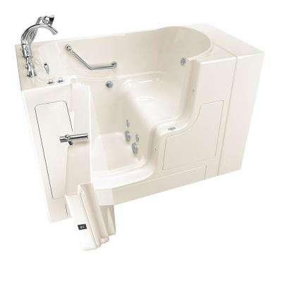 Gelcoat Value Series 52 in. Left Hand Walk-In Whirlpool Bathtub with Outward Opening Door in Linen