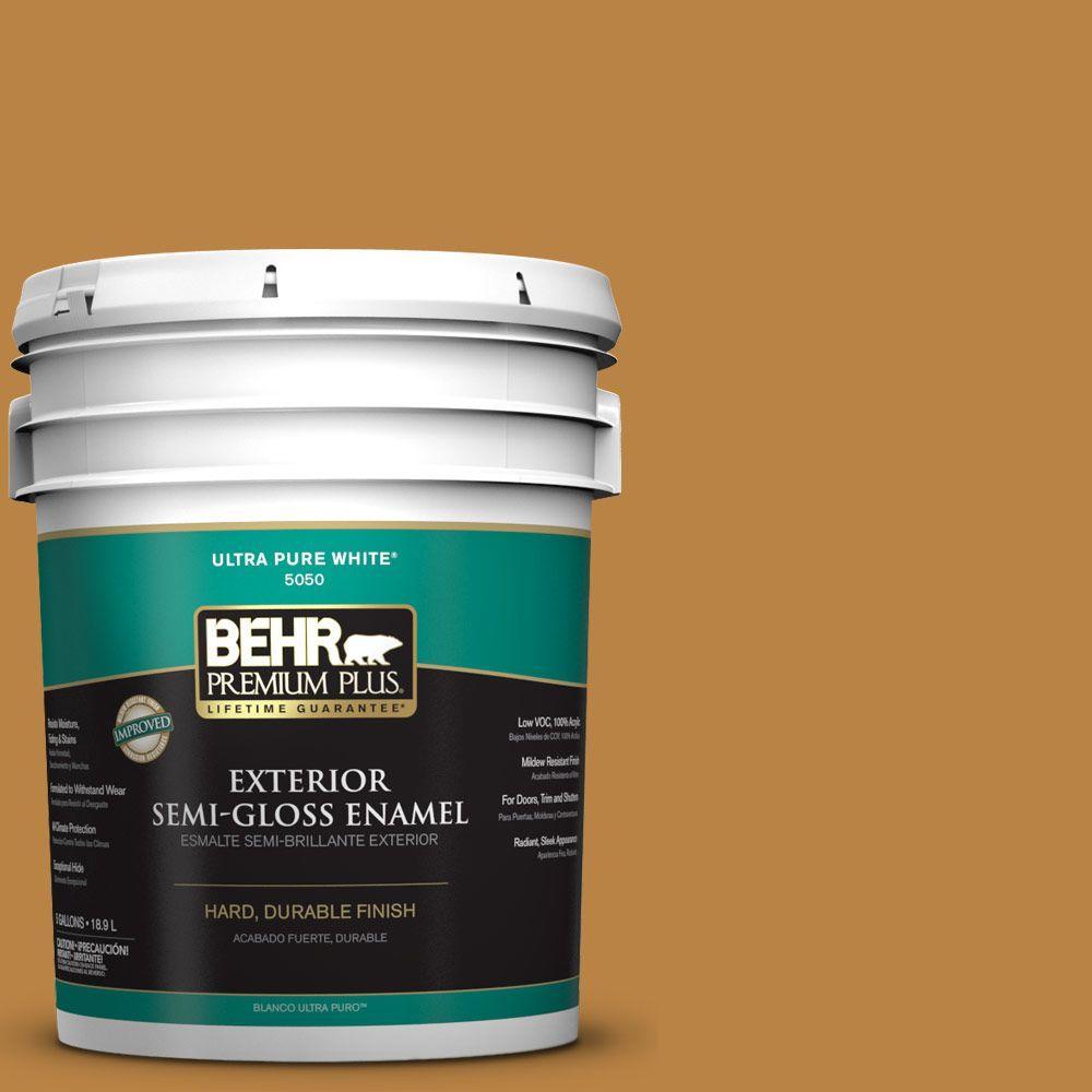 5-gal. #M270-7 Wild Ginger Semi-Gloss Enamel Exterior Paint