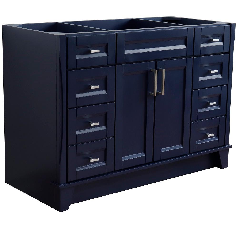 48 in. W x 21.5 in. D Single Bath Vanity Cabinet Only in Blue