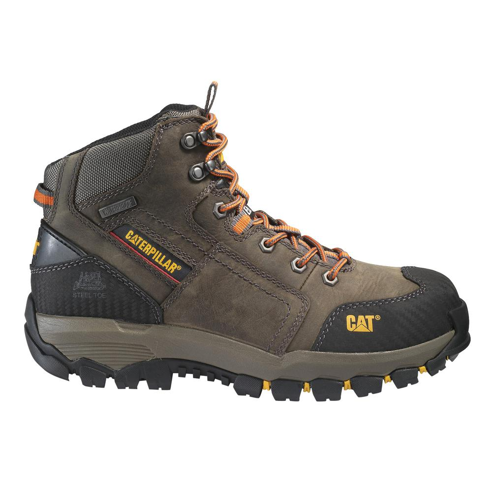 9b72629283c CAT Footwear Men's Size 8.5 Dark Gull Grey Grain Leather Navigator ...