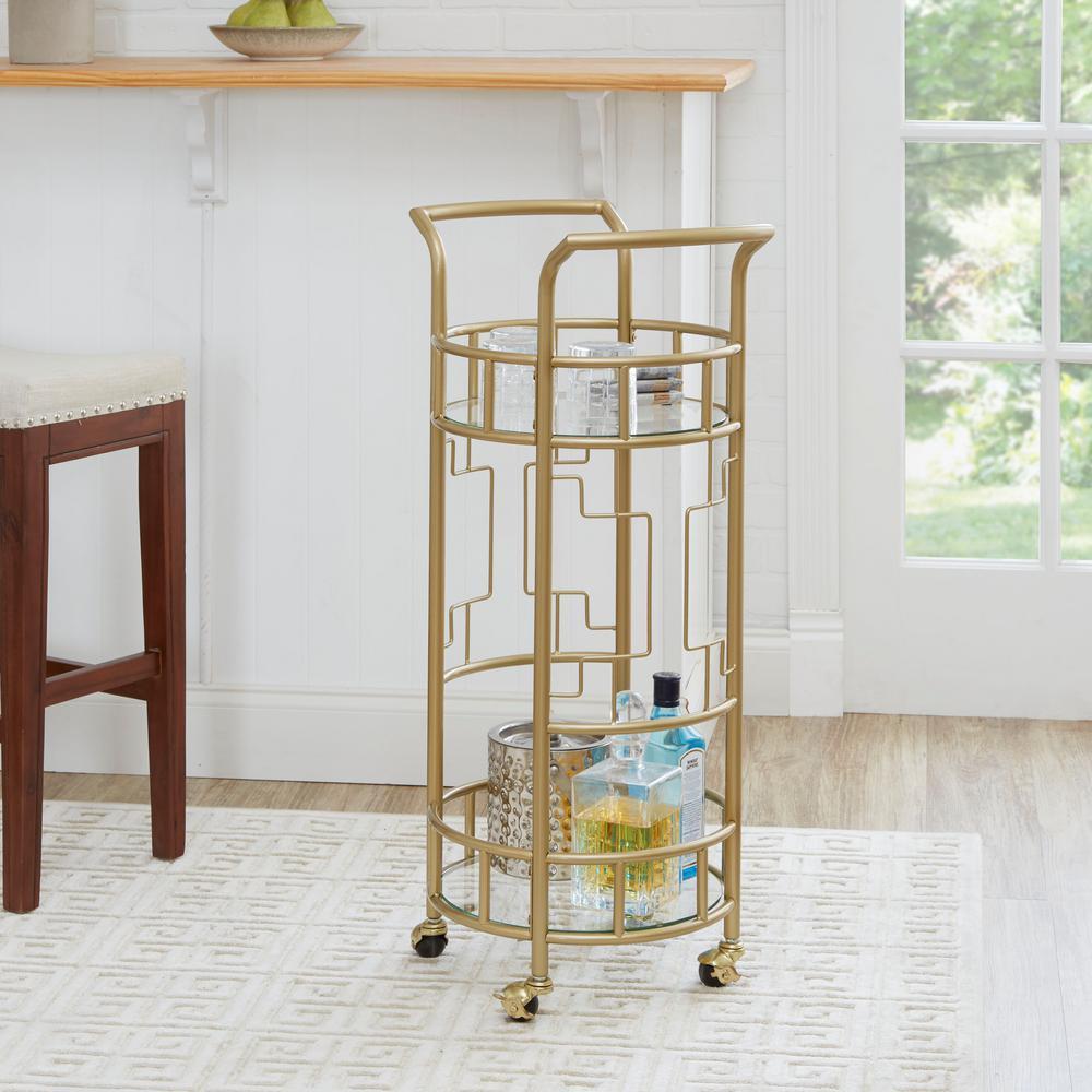 Jules Gold Geometric Bar Cart