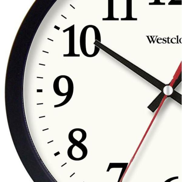Westclox 14 In Black Electric Wall Clock 32189a The Home Depot