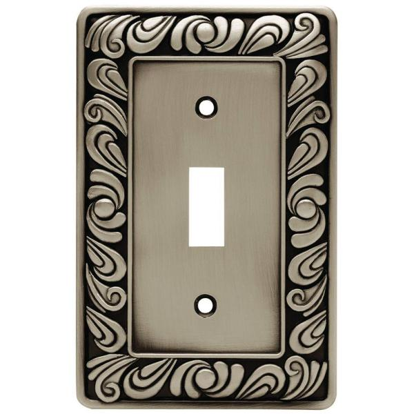 Pewter 1-Gang Toggle Wall Plate (1-Pack)