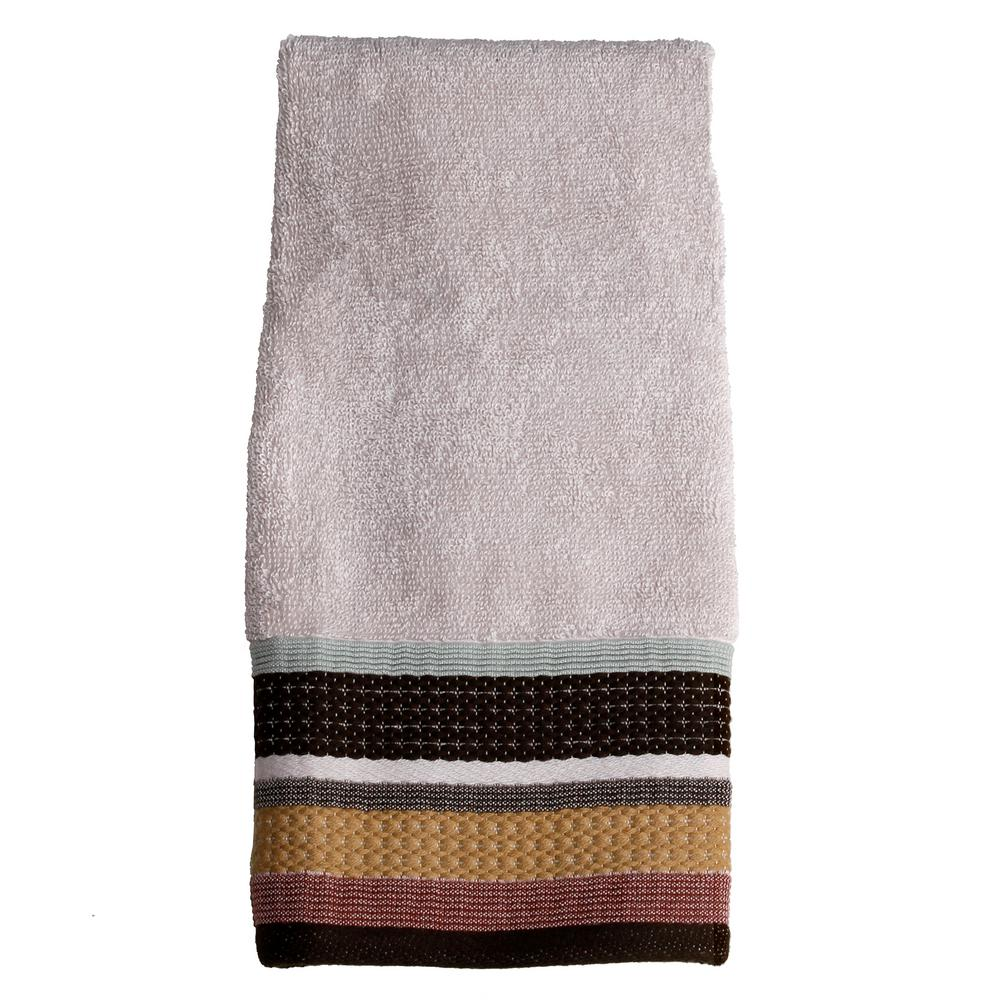 Jessen Stripe Cotton Hand Towel in Natural