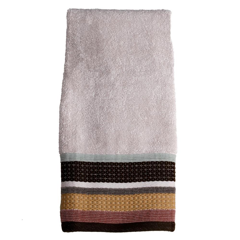 Jessen Stripe Cotton Hand Towel in Natural