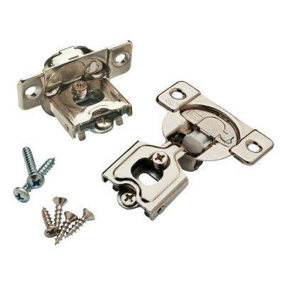 35 mm 105-Degree 1/2 in. Overlay Soft Close Hinge (1-Pair)