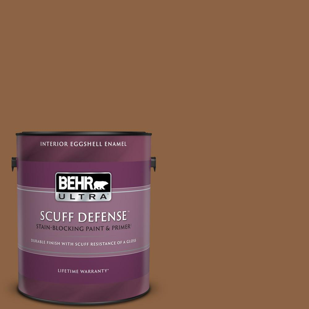 Behr Ultra 1 Gal 260f 7 Caramel Latte Extra Durable Eggshell Enamel Interior Paint And Primer In One 275301 The Home Depot