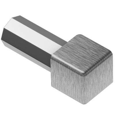 Quadec Brushed Stainless Steel 9/16 in. x 1 in. Metal Inside/Outside Corner