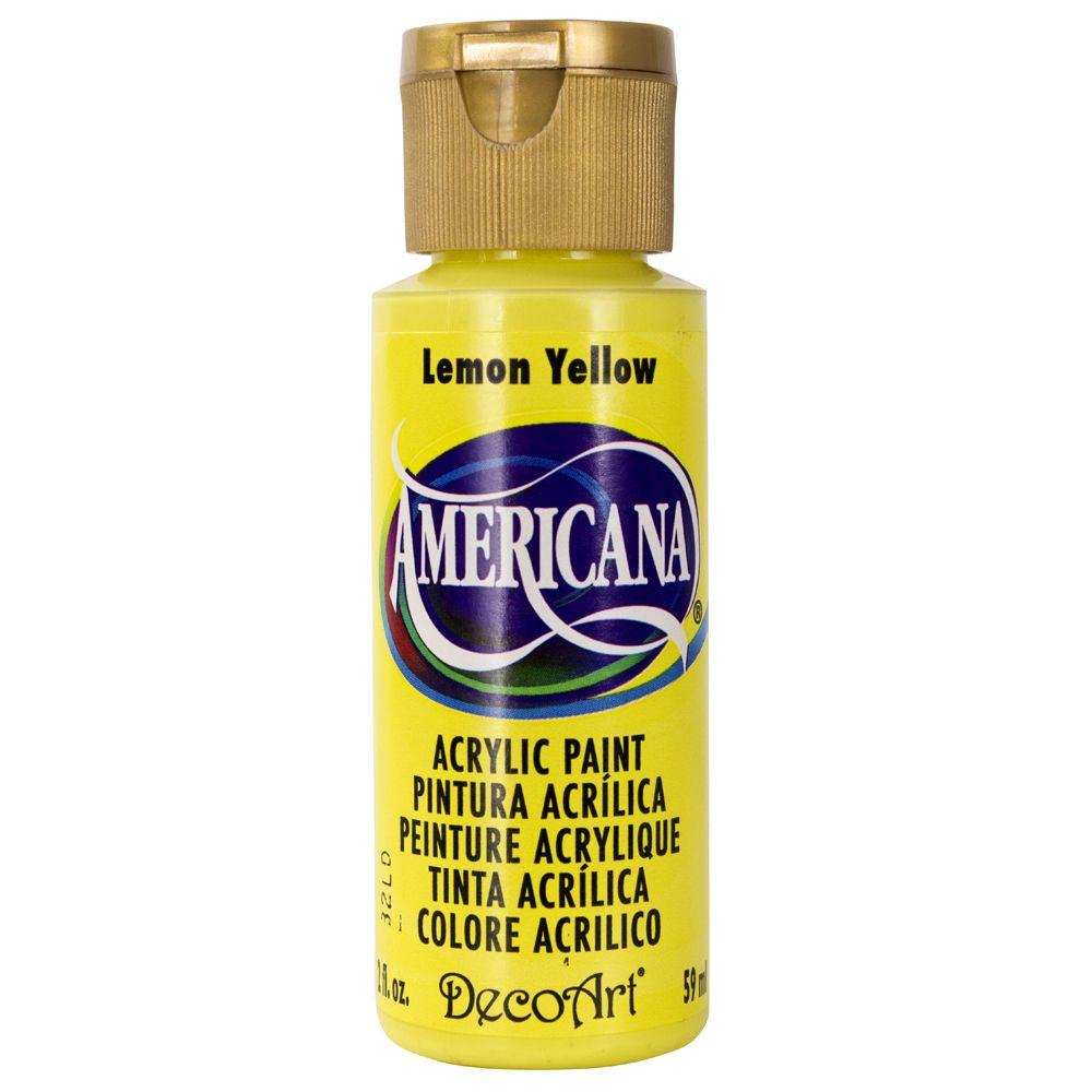 Americana 2 oz. Lemon Yellow Acrylic Paint