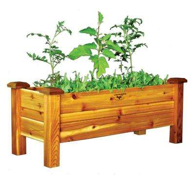 48 in. x 18 in. Safe Finish Cedar Planter Box