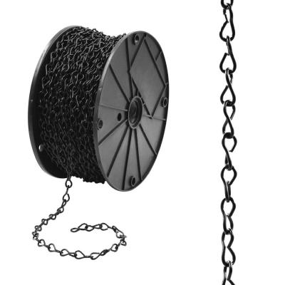 #14 x 190 ft. Steel Jack Chain, Black