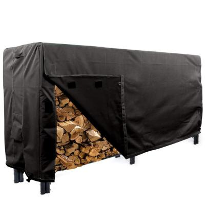 Panther Series 8 ft. Black Log Rack  Heavy-Duty Protector Cover