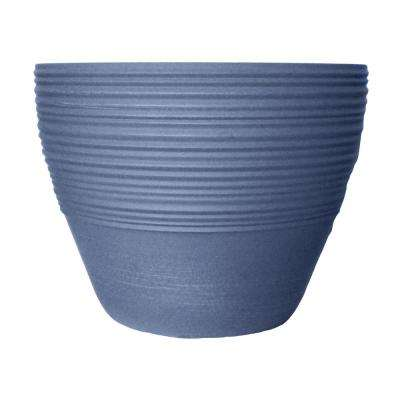 Prescott 18.94 in. W x 14.76 in. H Brushed Denim Resin Planter