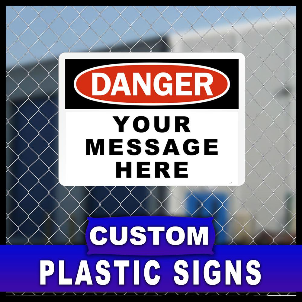 12 in. x 18 in. Custom Sign Printed on More Durable,