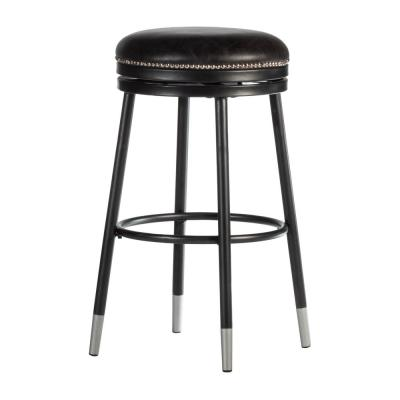 Valera 26 in. Black Swivel Counter Stool