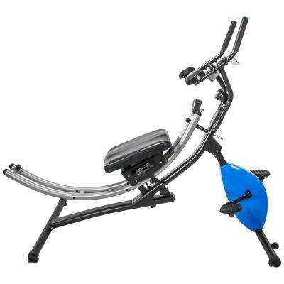 2-in-1 Abdominal Crunch Coaster Exercise Bike Fitness Machine