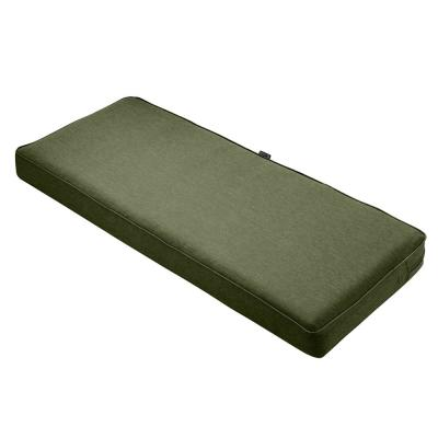 Montlake 59 in. W x 18 in. D x 3 in. Thick Heather Fern Green Rectangular Outdoor Bench Cushion