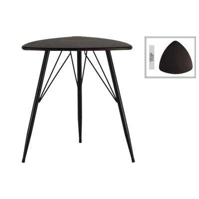 Metallic Gray Metal Decorative Table