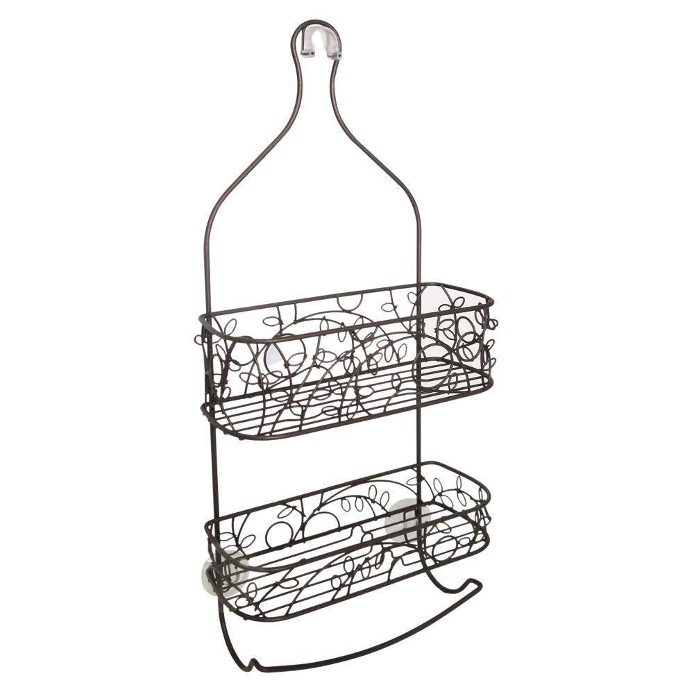 interDesign Twigz Shower Caddy in Bronze-69081 - The Home Depot