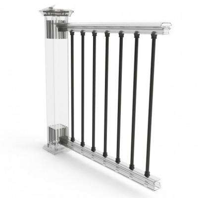 Black 36 in. Transform Rail Balusters Aluminum (10-pack)