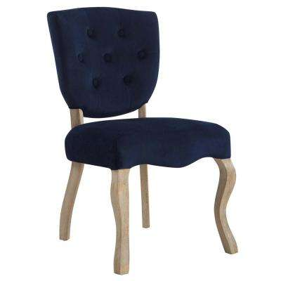 Array Midnight Blue Vintage French Dining Side Chair