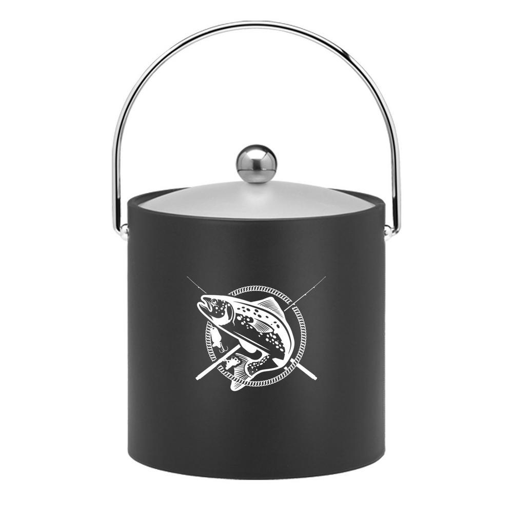 Kasualware Fishin' 3 Qt. Ice Bucket in Black