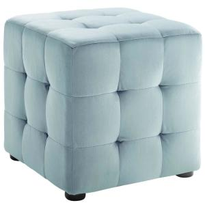 Excellent Modway Contour Light Blue Tufted Button Cube Performance Gmtry Best Dining Table And Chair Ideas Images Gmtryco