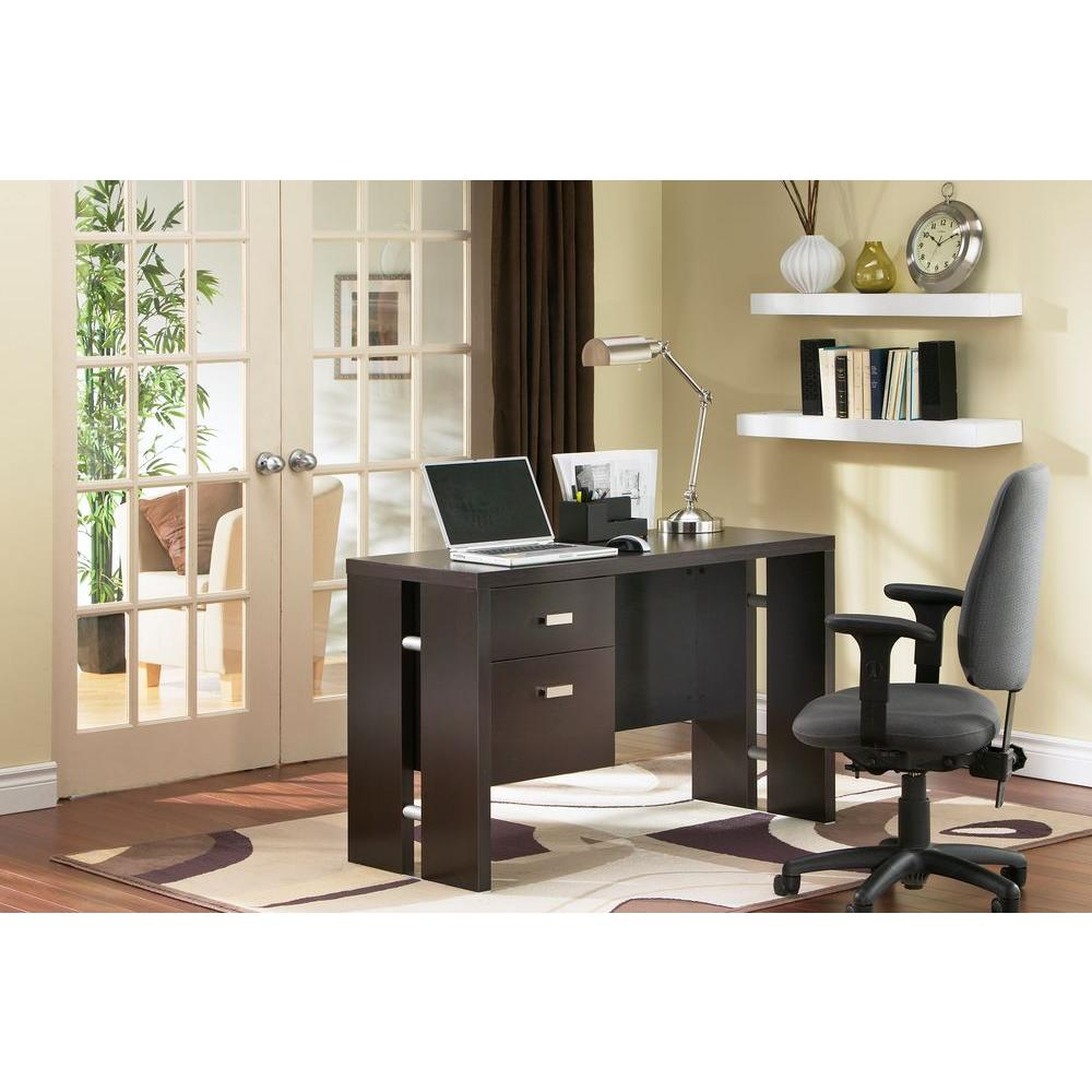 Element Office Desk in Chocolate