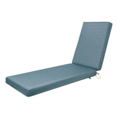 Weekend 72 in. W x 21 in. D x 3 in. Thick Outdoor Chaise Cushion in Blue Shadow