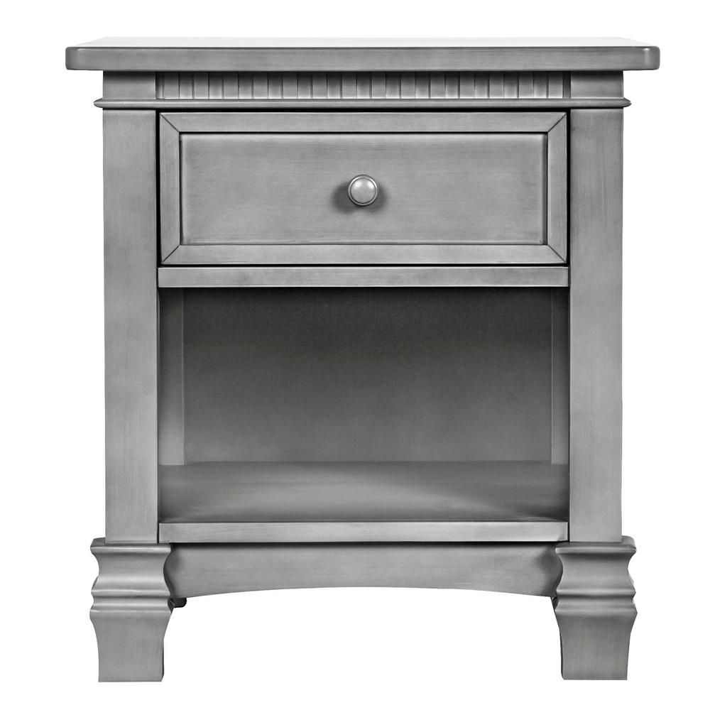 Santa Fe 1-Drawer Storm Grey Night Stand