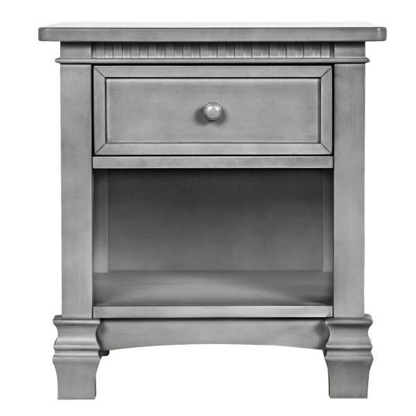 Evolur Santa Fe 1-Drawer Storm Grey Night Stand 830-SGY