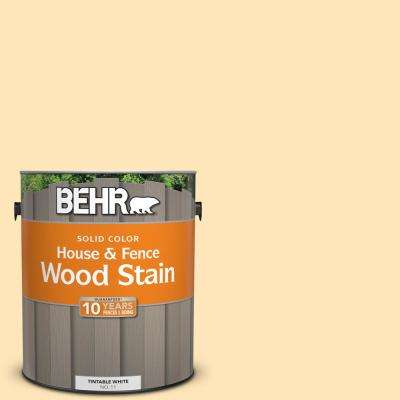 1 gal. #300A-2 Whisper Yellow Solid Color House and Fence Exterior Wood Stain