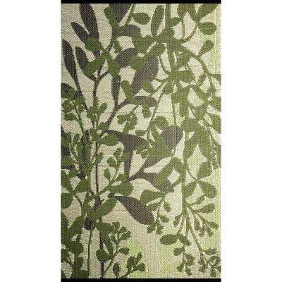 Frisco Green/Brown 4 ft. x 6 ft. Outdoor Reversible Area Rug